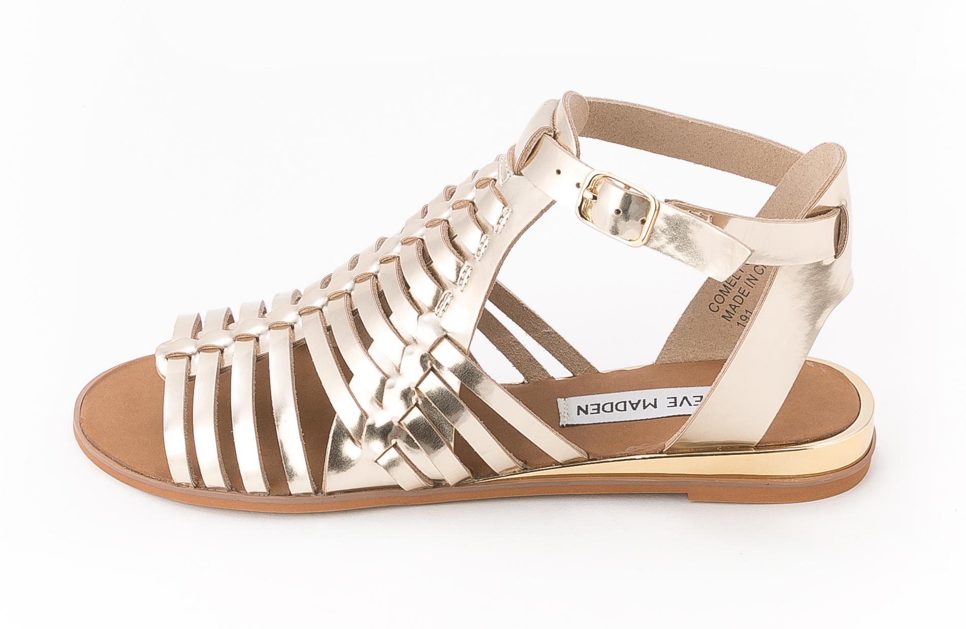 98dc1bda2c3 UPC 889163004465 - Steve Madden - Comely (Gold) Women's Sandals ...