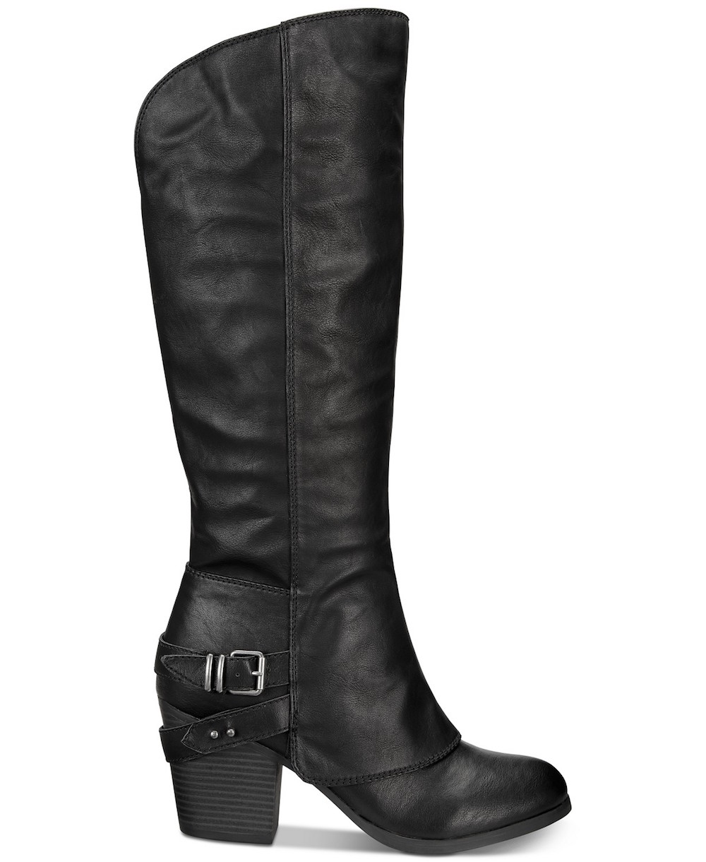American Rag Womens Emilee Almond Toe Knee High Fashion Boots Size 9.0 Black